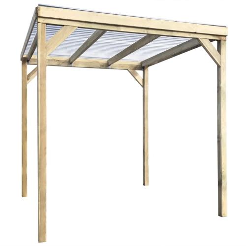 pergola abri de stockage de bois 2x2x2m en bois. Black Bedroom Furniture Sets. Home Design Ideas