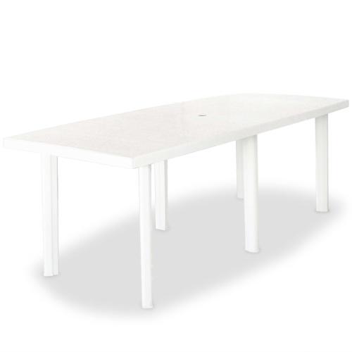 Table de jardin 210 x 96 x 72 cm Plastique Blanc