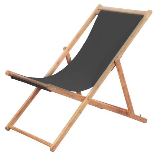 chilienne pliante de jardin en bois d 39 eucalyptus grise. Black Bedroom Furniture Sets. Home Design Ideas