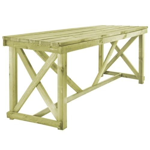 Table de salle à manger de jardin Table en Bois extérieur certifié FSC 160 x 79 x 75 cm