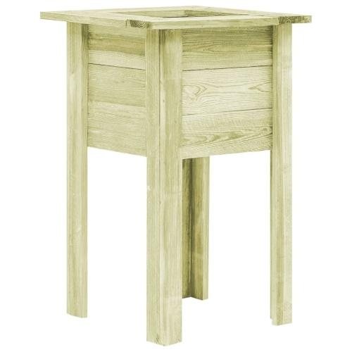 Jardini re sur pied 50x50x80 cm bois seulement sur - Jardiniere en bois sur pied ...