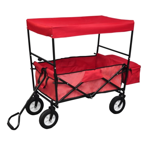 Foldable Hand Truck with Roof