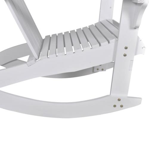 Sedia a dondolo in legno bianca