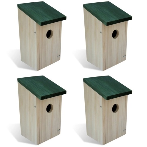 Птица дом скворечник из дерева 4 шт