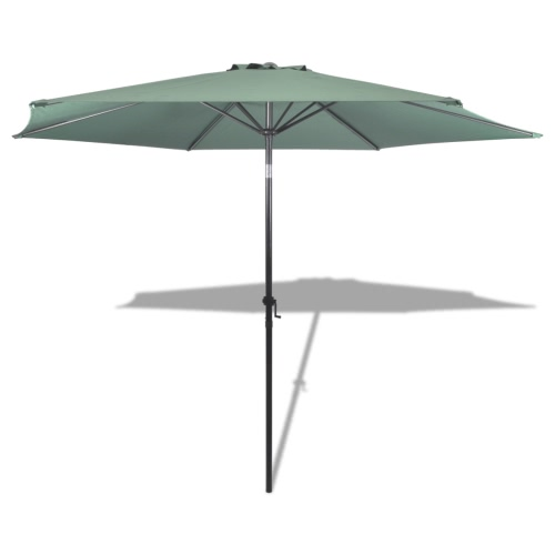Hanging Outdoor Parasol Garden Canopy Sunshade 10 'Green