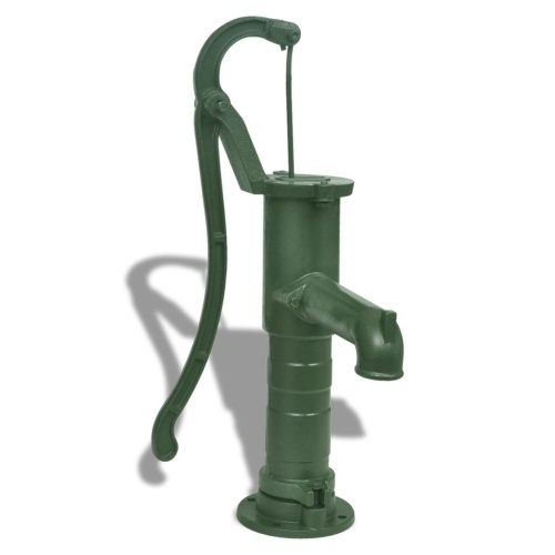 Festnight Garden Hand Water Pump Garden Cast Iron Easy Installed and Mount Press Suction Outdoor Yard Ponds 25.6 x 15.7 x 5.9 inch