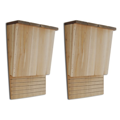 "Bat House 8,7 ""x 4,7"" x 1 '1 ""Set von 2"