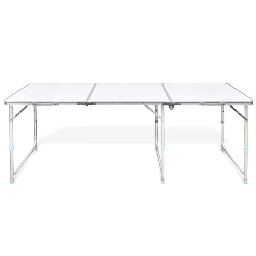 """Tavolo pieghevole da campeggio regolabile in altezza in alluminio 70,9 """"x23,6"""""""