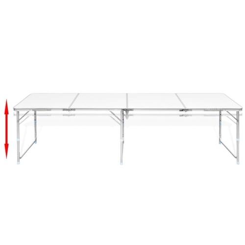 """Складная высота стола для кемпинга Регулируемый алюминий 94,5 """"x23,6"""""""