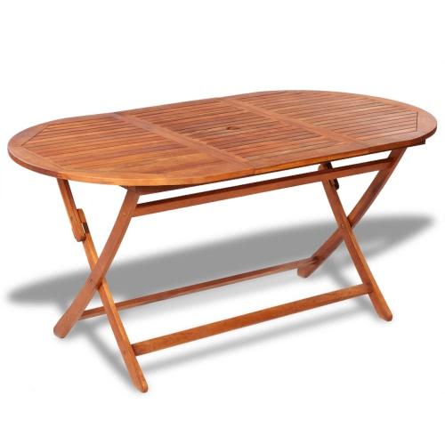 Extérieur en bois Oval Dining Table