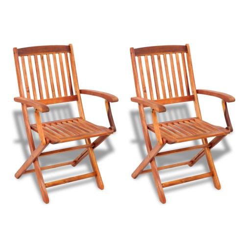2 sillas plegables de madera de restauración