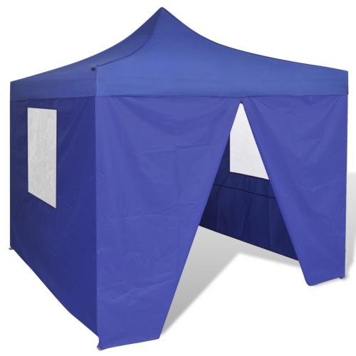 Bleu Pliable Tente 10 'x 10' avec 4 Murs