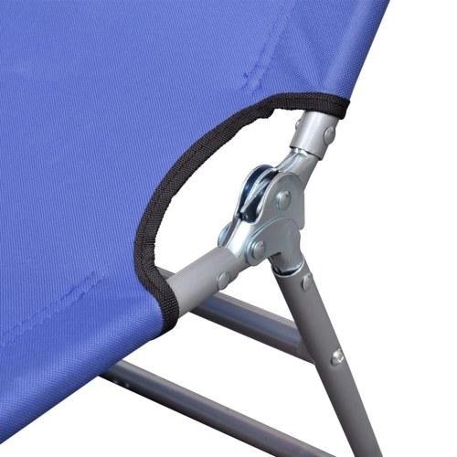 Складной Sun Lounger с регулируемой спинкой Синий