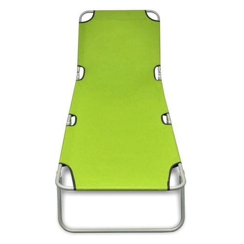 Складной Sun Lounger с регулируемой спинкой Apple Green