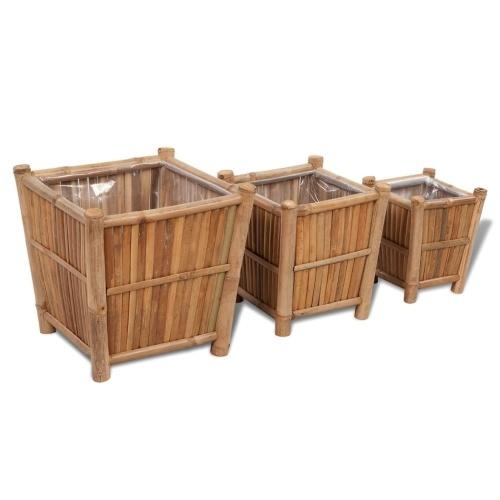Набор плантатора 3 части бамбука с нейлоновой подкладкой
