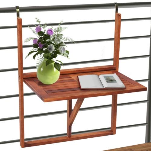 Pliable Balcon Table en bois