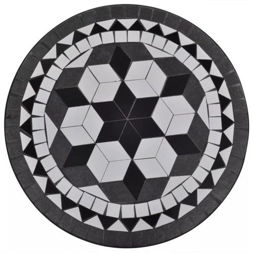 """Мозаичный стол 23,6 """"Черно-белый"""