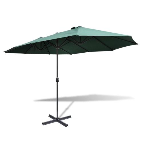 9 'x 15' in alluminio ombrello verde