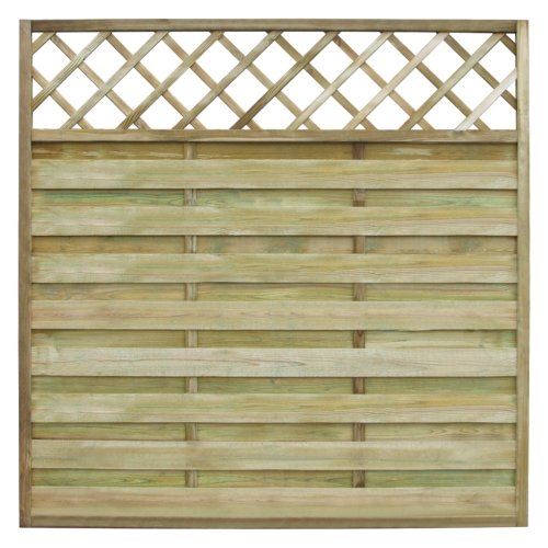 Square Garden Fence Panel with Trellis 180 x 180 cm Wood