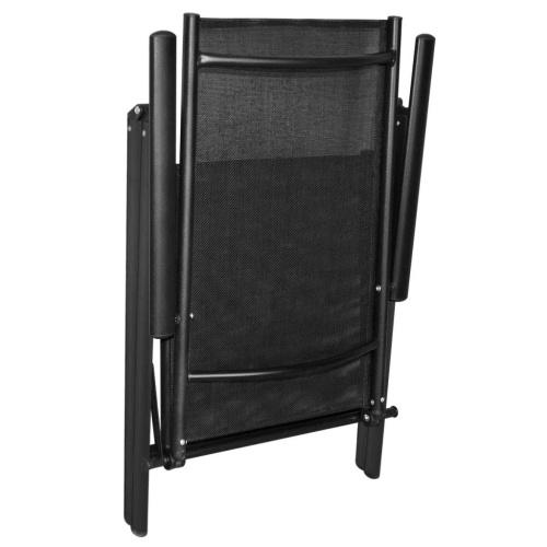Складные садовые стулья 2 шт. Алюминий черный