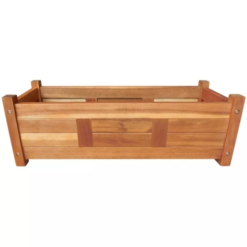 planter of acacia wood 76x27,6x25 cm