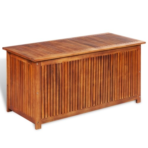 storage trunk of acacia wood terrace