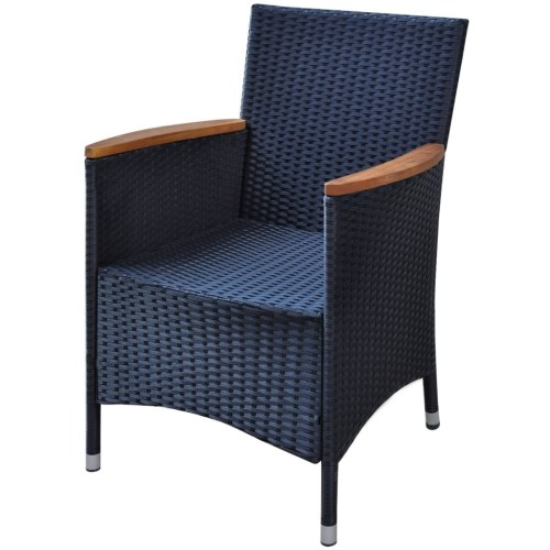 game black synthetic rattan chair 200x200 cm