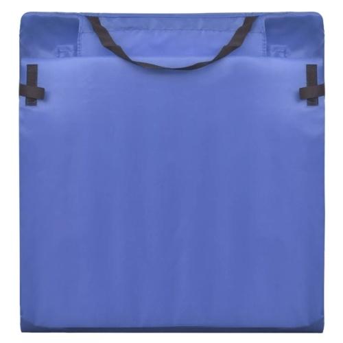 バックレスト付き折りたたみ式ビーチマット2個入りブルー