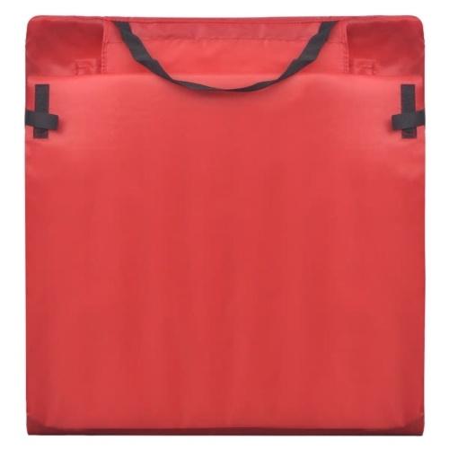 folding beach mat with backrest 2 pcs. red
