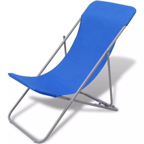 Складные пляжные стулья 2 шт. Синий