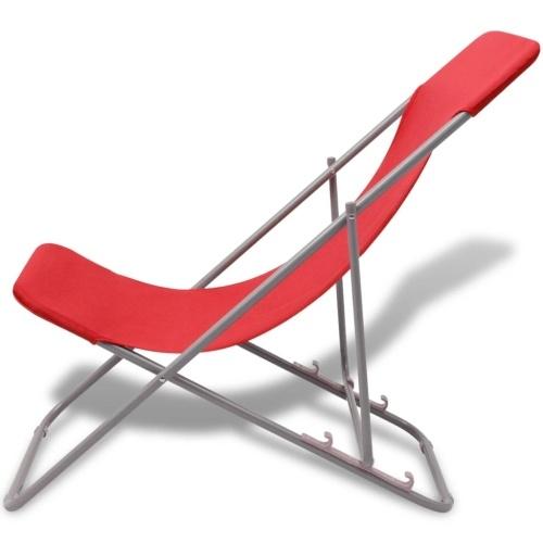 Складные пляжные стулья 2 шт. Красный