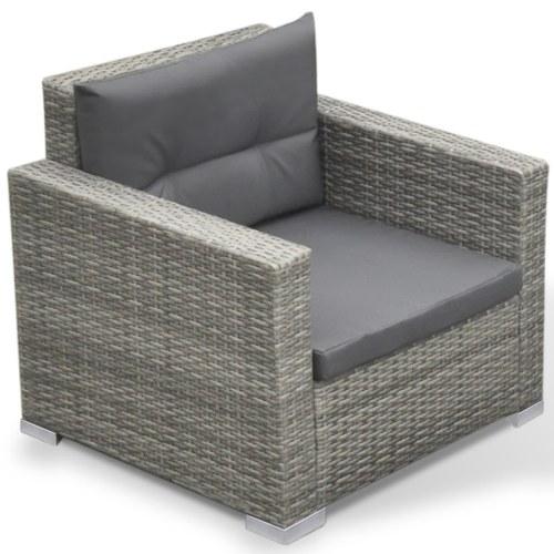 sofas set pieces synthetic rattan garden 17 gray
