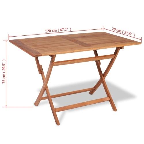 "Teak Outdoor Dining Table 47.2 ""x27.6"" x29.5 """
