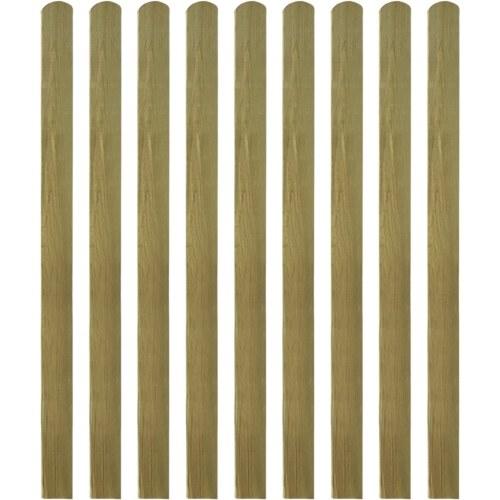 impregnated wooden slats enclosed 10 pcs 140 cm