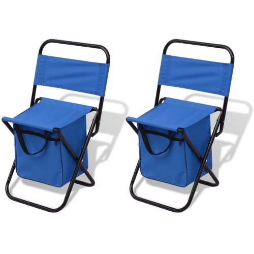 chairs  27x33x58 cm camping 2 pieces blue