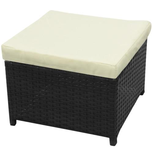 garden sofa set 26 pieces poly rattan black