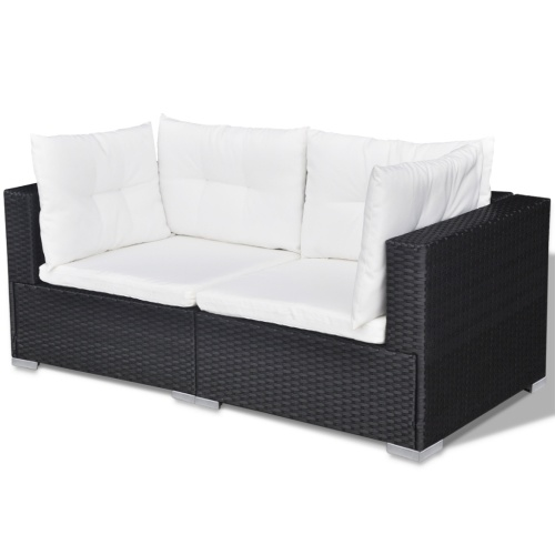 garden sofa set 32 pieces poly rattan black