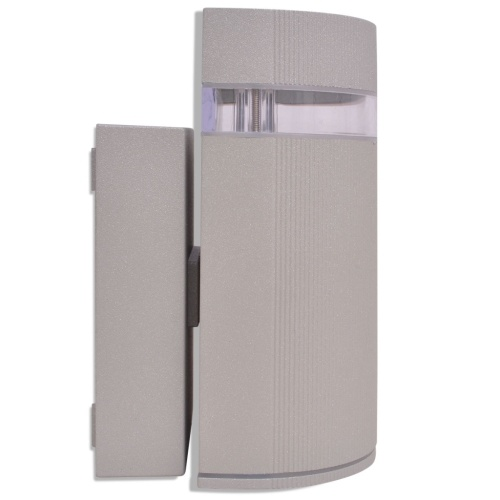 aluminum gray semi-cylindrical outdoor wall light