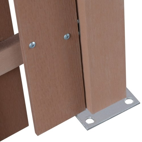 square fence panel wpc brown