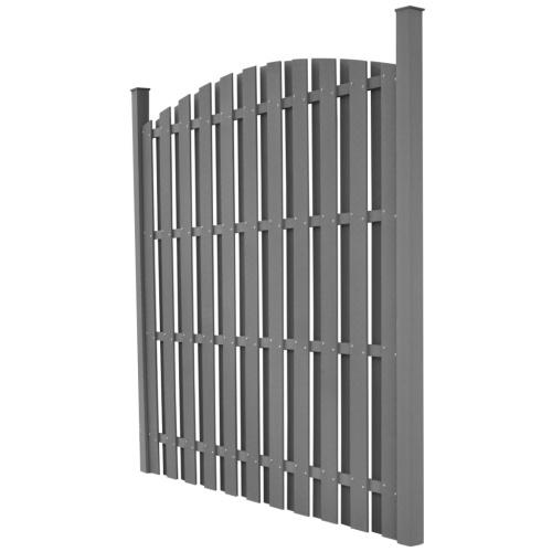 Pannello per recinzione rotondo grigio WPC