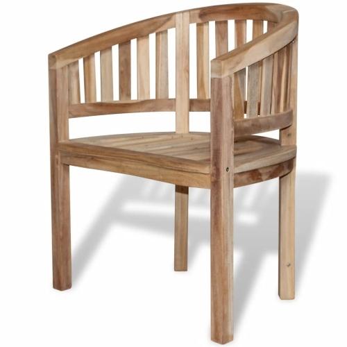 cadeira de banana de teca