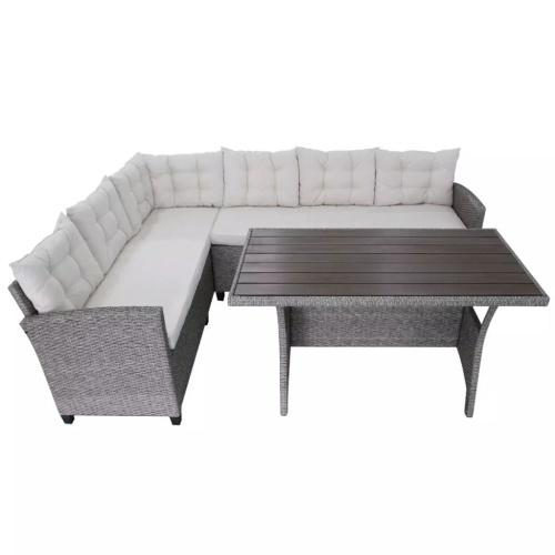 12 шт. Гарнитурный диван для пола Poly Rattan Grey