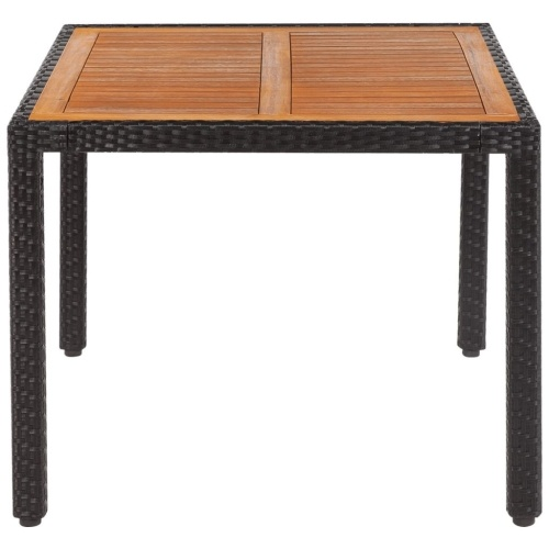 "Открытый стол Poly Rattan Acacia Wood Top 35.4 ""x35.4"" x29.5 """