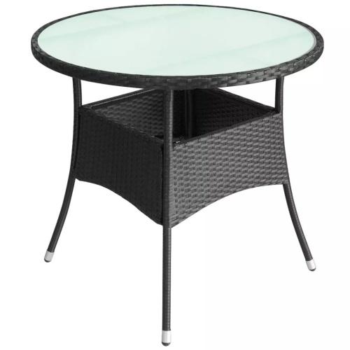 """Наружный стол Poly Rattan 23,6 """"x29"""" Черный"""