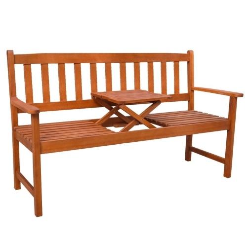 Garden Bench с всплывающим столом Acacia Wood