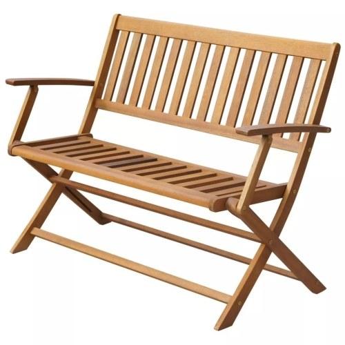 """Складной скамейка для сада Solid Acacia Wood 47.2 """"x23.6"""" x35 """""""