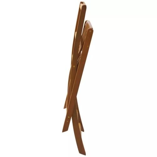 Sedie da bar pieghevoli per esterni 2 pezzi di legno di acacia