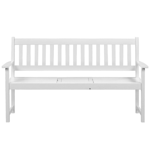 Garden Bench с всплывающим столом Acacia Wood White