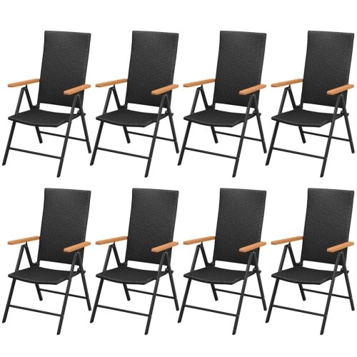 garden dining room wpc synthetic rattan 9 pieces