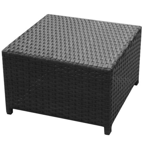 26 Piece Garden Sofa Set Poly Rattan Black
